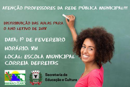 Atenção professoras e professores da Rede Pública Municipal!