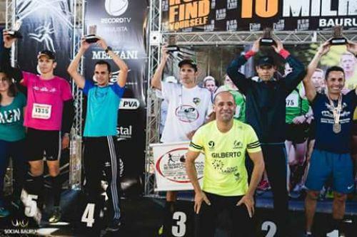 Treinador da Ascor ganha bronze nas 10 Milhas de Bauru