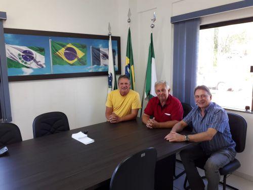 Visita do ex-deputado Nelson Garcia e Newton Bonin
