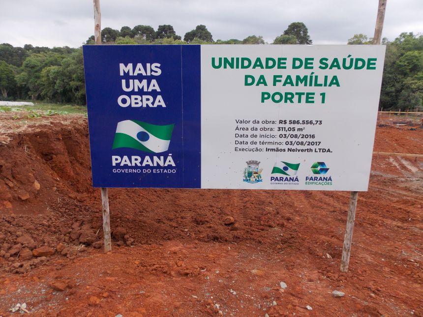 Iniciada a construção da UBS Nova Boa Vista