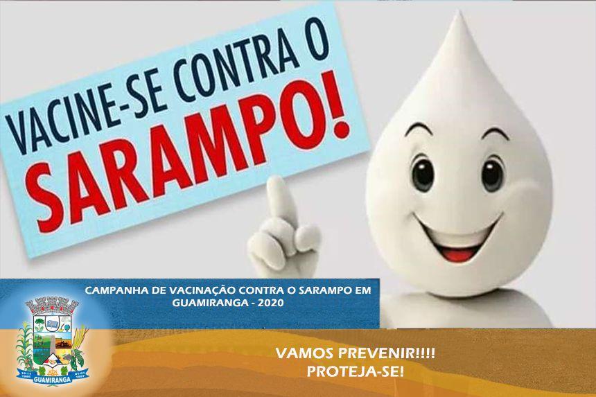 Campanha de Vacinação contra o Sarampo em Guamiranga.