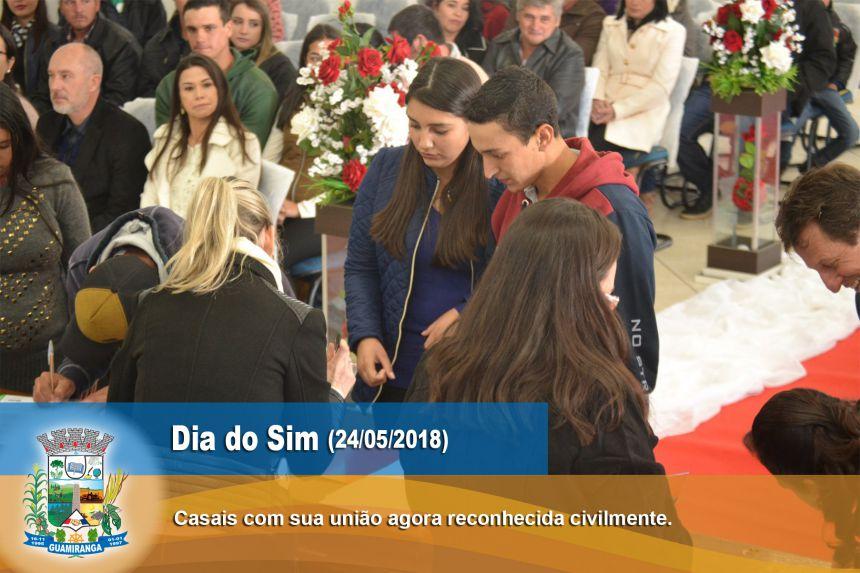 DIA DO SIM - CASAMENTO CIVIL COMUNITÁRIO