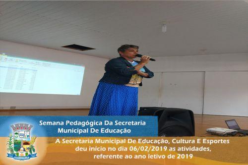 Semana Pedagógica Da Secretaria Municipal De Educação.
