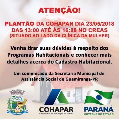 Plantão Cohapar Em Guamiranga!