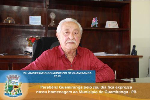 Prefeito Angelo Machado do Nascimento fala das conquistas no aniversário de Guamiranga.