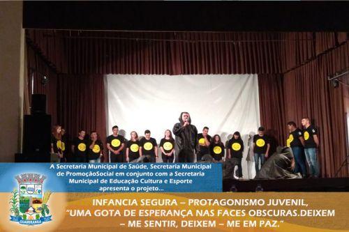 """INFANCIA SEGURA - PROTAGONISMO JUVENIL, """"UMA GOTA DE ESPERANÇA NAS FACES OBSCURAS. DEIXEM - ME SENTIR, DEIXEM - ME EM PAZ."""""""
