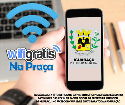 Iguaraçu tem internet gratuita na praça da Igreja matriz.
