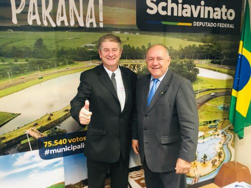 Prefeito Nelinho está em brasília para tratar de assuntos de interesse do município de Iguaraçu.