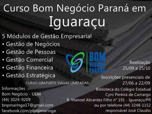 Curso Bom Negócio Paraná