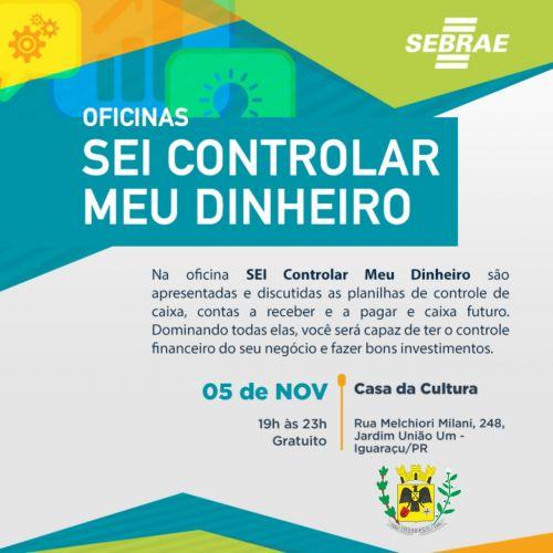 PREFEITURA ABRE INSCRIÇÕES PARA OFICINAS DE QUALIFICAÇÃO DO SEBRAE