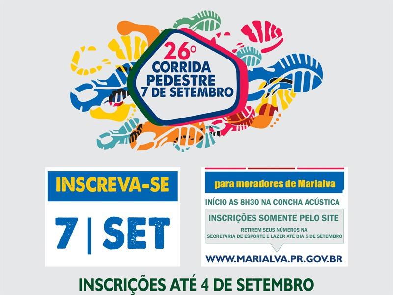 26º CORRIDA DE PEDESTRE 7 DE SETEMBRO
