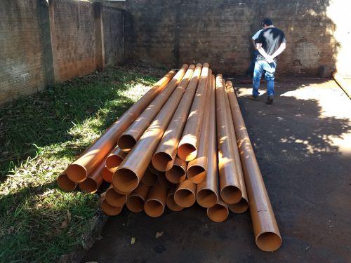 Obras da rede de esgoto do João de Barro e Planalto avançam em Marialva