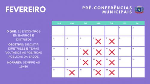 Confira dias das pré-conferências da Saúde