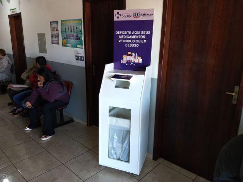 Marialva oferece cabines de descarte de medicamentos vencidos e em desuso