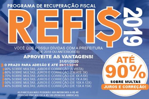 Prorrogado o prazo para inscrição no REFIS; aproveite mais essa oportunidade para se regularizar!