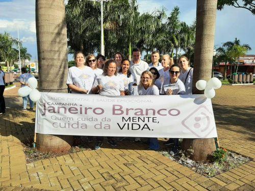 Evento do Janeiro Branco é realizado na Praça Santos Dumont, em Marialva