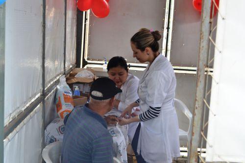 Medição de glicemia durante o evento