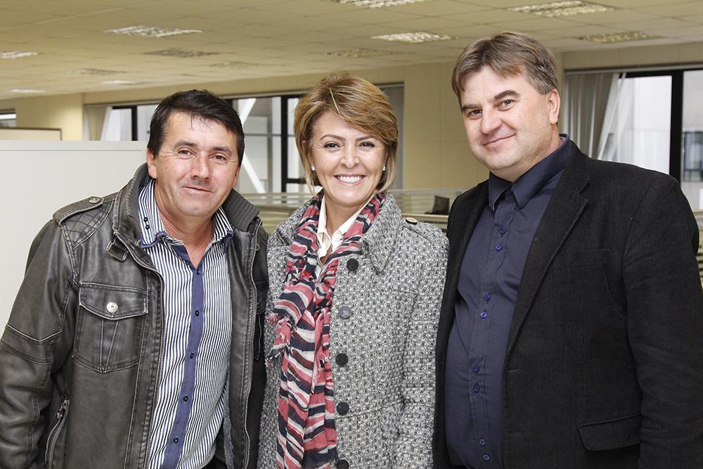 Vereadores do PSC Jos� Adilson dos Santos e Maur�cio Bosak, durante reuni�o com a Secret�ria Fernanda