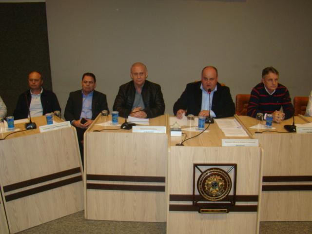 Presidente Lachovicz recepciona o Presidente da Assembleia Ademar Traiano