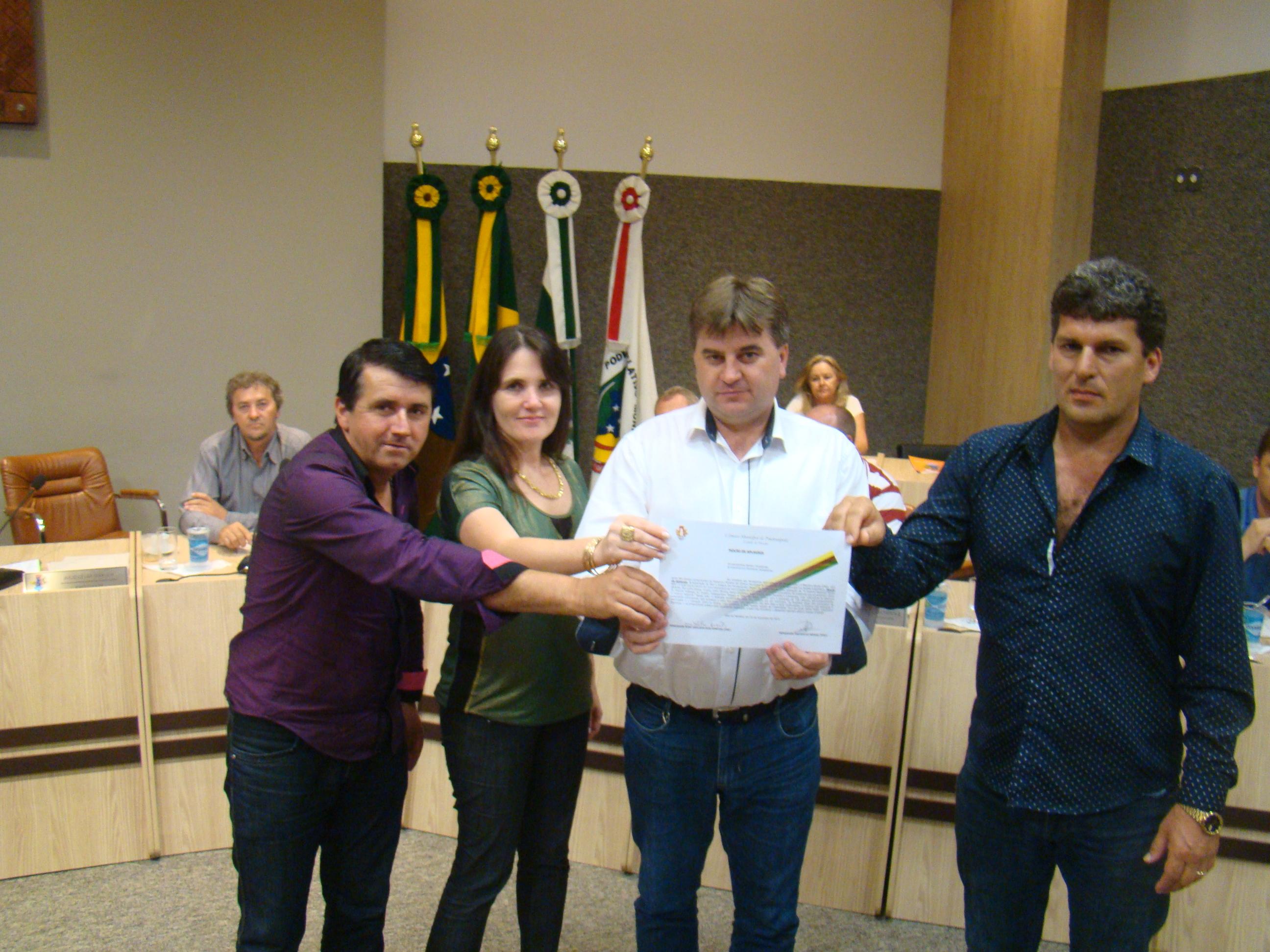 Presidente Josse Adilson, Eliane Kotsko, Vereador Mauricio e Julio Kotsko
