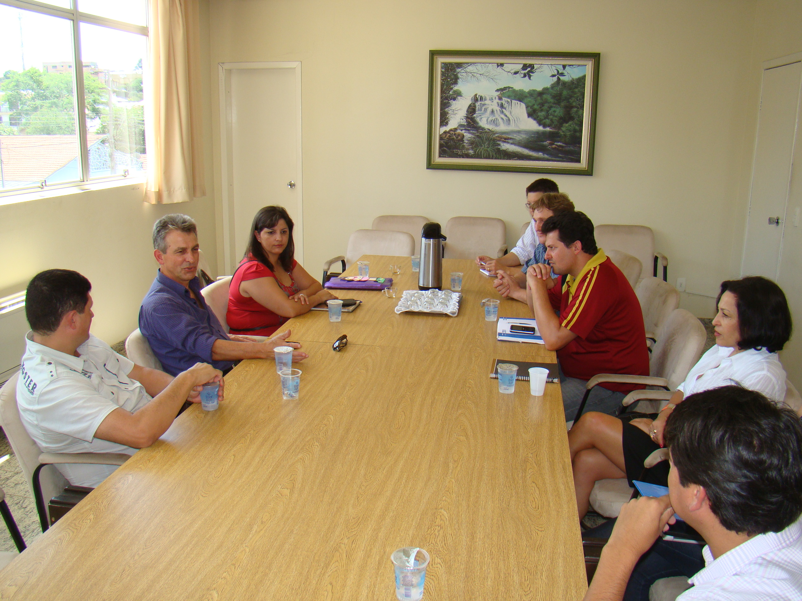 Reujni�o para discutir os detalhes do Forum aconteceu na Prefeitura Municipal, com o Deputado Veneri.
