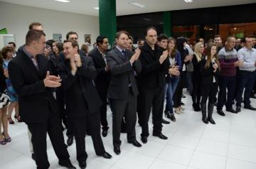 Convidados, colaboradores, e cooperados participaram do ato inaugural da nova ag�ncia.