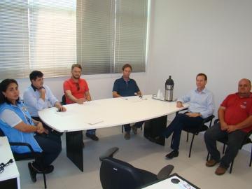 Vereadores reunidos com o Deputado Estadual Professor Lemos
