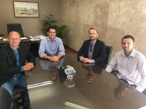 Encontro com vice-prefeito de Curitiba, Eduardo Pimentel