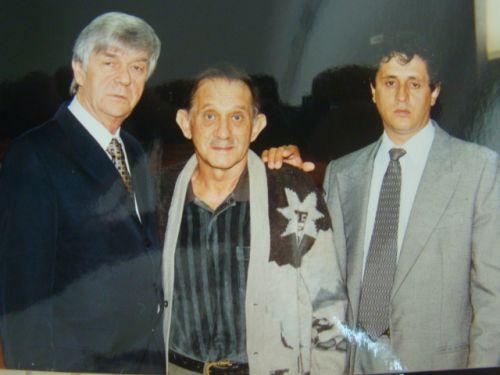M�dico L�o Ditzel, Ex-Vereador Alcides Schirlo, pai do Vereador C�zar Schirlo, em evento na c�mara na legislatura de 1996 a 2000