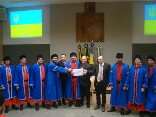 Representantes dos Cossacos recebem Mo��o