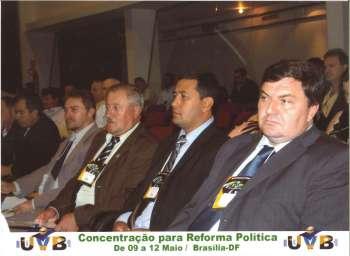 Vereador Osmar Pereira - PTB, no encontro em Bras�lia