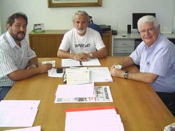 Prefeito Gilvan e Deputado Meurer em visita ao Presidente Canderoi, na C�mara.