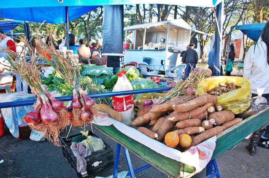 Feira da família  oferece várias opções de alimentos  em  São Tomé