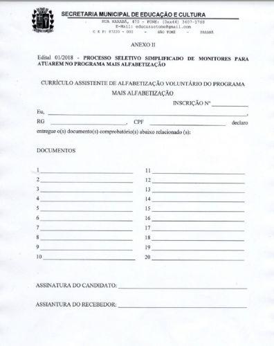 Administração lança edital para selecionar assistente de alfabetização