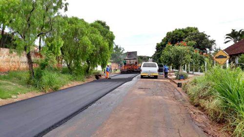 Empresa contratada pela administração inicia  segunda etapa de recape da estrada rodeio