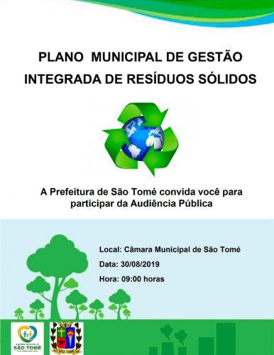 Prefeitura ira realizar audiência publica sobre material sólidos