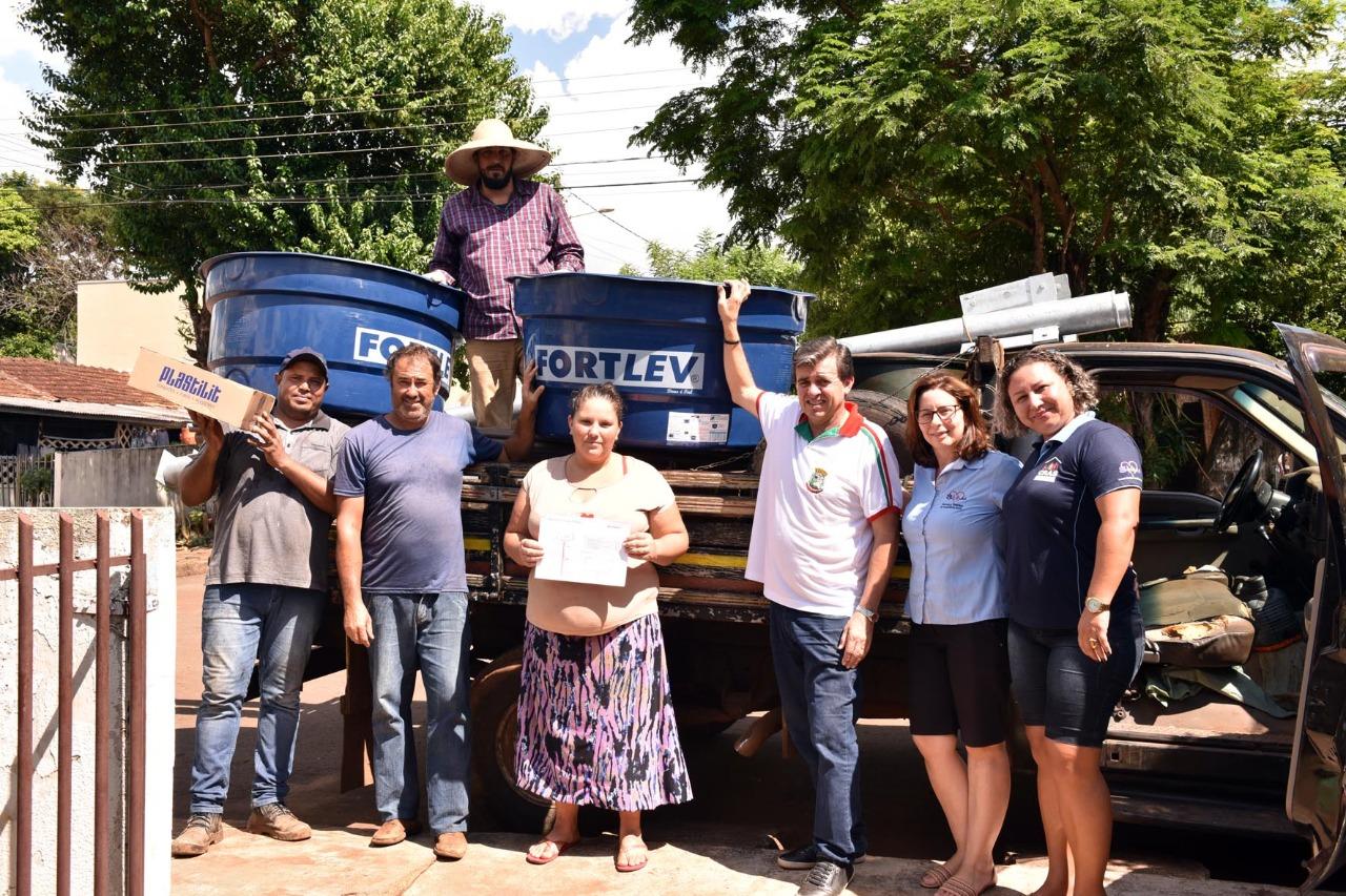 Município de Iretama entrega 30 Caixa D′Água as famílias atendidas pelo Programa Família Paranaense