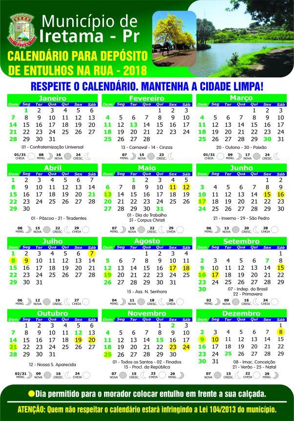 """Secretaria de Meio Ambiente Lança """"calendário para deposição de entulhos"""" no dia Internacional do Meio Ambiente"""