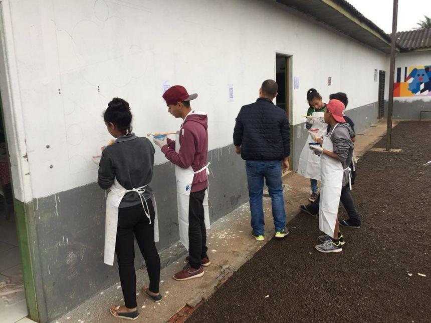 Conclusão da Oficina de Grafite 2017/2018, do Serviço de Convivência e Fortalecimento de Vínculos