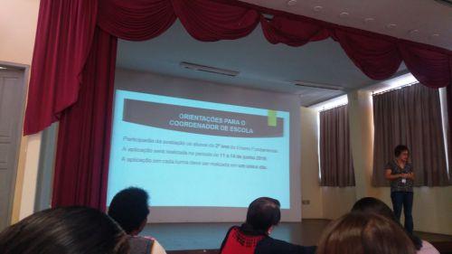 Treinamento  de Avaliação de Fluência e aplicação da Prova Paraná
