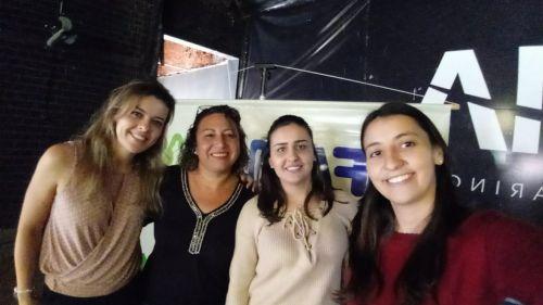 Técnicas do município, juntamente com a Coordenadora Estadual do Programa Família Paranaense - Letícia Reis.