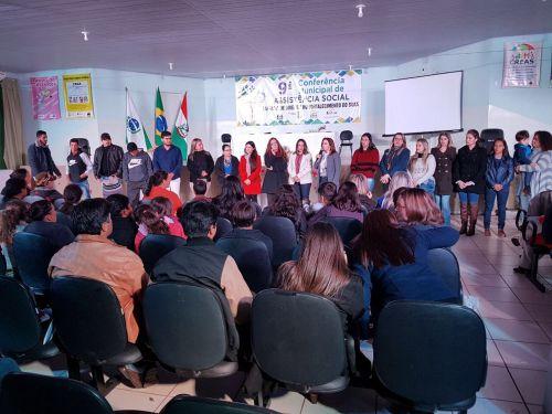 Autoridades presente na IX Conferência Municipal de Assistência Social