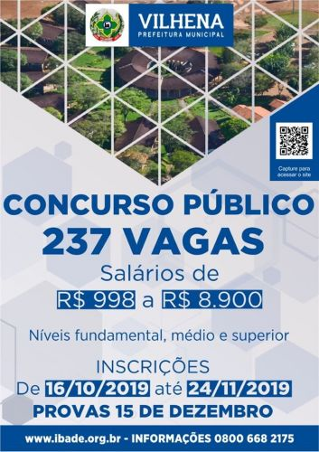 Concurso da Prefeitura e Saae já têm mais de 20 mil inscritos: prazo acaba dia 24