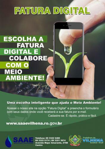 Fatura digital facilita pagamento de conta de água do Saae pela Internet