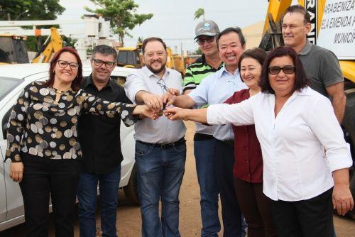 VEÍCULOS entregues somam R$ 267 mil e serão utilizados para obras e melhorias no trânsito em Vilhena