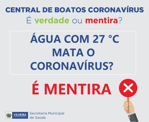 CENTRAL DE BOATOS CORONAVÍRUS PMV Nº 05 - É VERDADE OU MENTIRA?