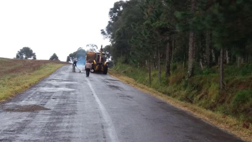 Prefeito acompanhamento projetos do recape asfaltico