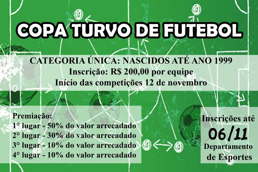 Inscrições aberta para Copa Turvo de Futebol