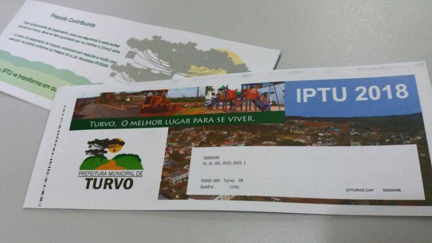 Carnês de IPTU 2018