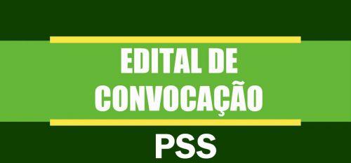 Edital de Convocação do PSS